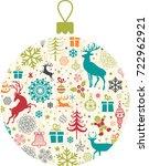 christmas decoration   Shutterstock .eps vector #722962921