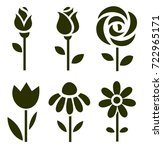 set of flower icons. floral...   Shutterstock .eps vector #722965171