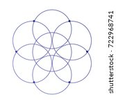 simple sacred geometry flower... | Shutterstock .eps vector #722968741