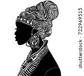 beautiful black woman....   Shutterstock .eps vector #722969515