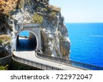 famous picturesque road of... | Shutterstock . vector #722972047