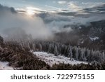 sunrise in the mountains | Shutterstock . vector #722975155