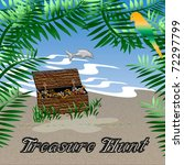 treasure chest sitting in the... | Shutterstock . vector #72297799