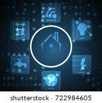 smart home technology... | Shutterstock .eps vector #722984605