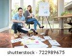 young asian entrepreneur...   Shutterstock . vector #722989675