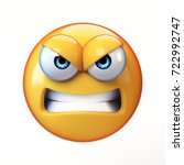 angry emoji isolated on white...   Shutterstock . vector #722992747