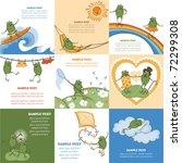 Set Of Children Cartoon Cards...