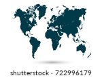 vector world map | Shutterstock .eps vector #722996179