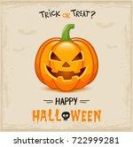 happy halloween  | Shutterstock .eps vector #722999281