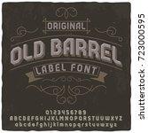 vintage label typeface named ...   Shutterstock .eps vector #723000595