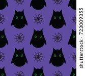 seamless pattern for halloween. ...   Shutterstock .eps vector #723009355