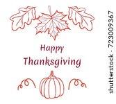 happy thanksgiving. hand drawn... | Shutterstock .eps vector #723009367