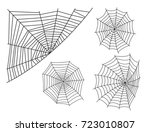 spider web silhouette arachnid... | Shutterstock .eps vector #723010807