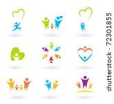 children  family  community and ... | Shutterstock .eps vector #72301855