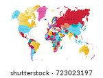 color world map | Shutterstock .eps vector #723023197