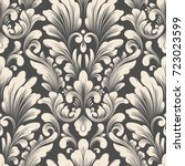 vector damask seamless pattern... | Shutterstock .eps vector #723023599