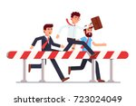 business man in steeplechase... | Shutterstock .eps vector #723024049