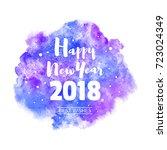 happy new year 2018 vector... | Shutterstock .eps vector #723024349