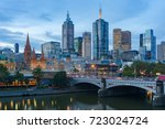 melbourne cbd  financial centre ... | Shutterstock . vector #723024724