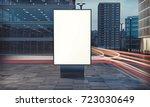 3d rendering of billboard blank ... | Shutterstock . vector #723030649