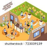 pediatric dentist isometric... | Shutterstock .eps vector #723039139