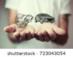 money and business concept car | Shutterstock . vector #723043054