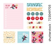 super cute stationery and... | Shutterstock .eps vector #723049705