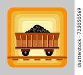 wagon coal energy concept...   Shutterstock .eps vector #723050569