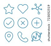 must have icon set | Shutterstock .eps vector #723052519