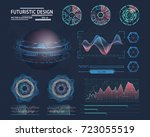 futuristic infographic with... | Shutterstock .eps vector #723055519