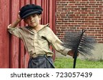 young chimney sweeper in color | Shutterstock . vector #723057439