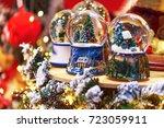 snow ball christmas decoration. | Shutterstock . vector #723059911