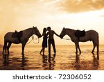 the image of a couple in love... | Shutterstock . vector #72306052