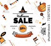 halloween sale banner  sale... | Shutterstock .eps vector #723072811