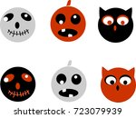 collection of 6  icons. for... | Shutterstock . vector #723079939