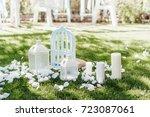 White Wedding Decoration In Th...