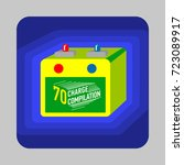car battery concept background. ... | Shutterstock .eps vector #723089917