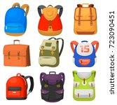 back to school kids school... | Shutterstock .eps vector #723090451