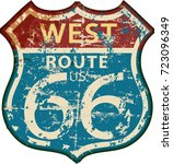 vintage route sixty six road... | Shutterstock .eps vector #723096349