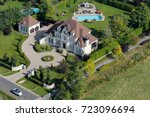 aerial view over a large... | Shutterstock . vector #723096694