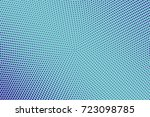 blue and cyan abstract halftone ... | Shutterstock .eps vector #723098785