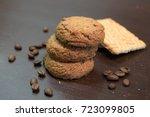 biscuit sweet cookie background.... | Shutterstock . vector #723099805