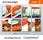 set of business cover design... | Shutterstock .eps vector #723099967