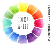 color wheel isolated watercolor ... | Shutterstock . vector #723100057