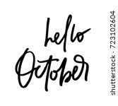 october life style inspiration... | Shutterstock .eps vector #723102604