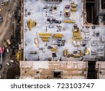 aerial photo construction site | Shutterstock . vector #723103747