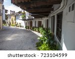 guadalupe old town porticoed... | Shutterstock . vector #723104599