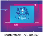 concept web page with joystick... | Shutterstock .eps vector #723106657