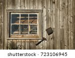 Wooden Windows On A Grunge...