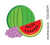 illustration of healthy fresh... | Shutterstock .eps vector #72310879